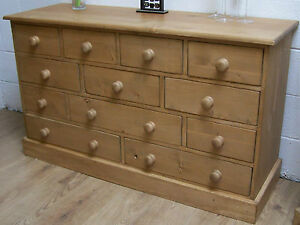 12 DRAWER SOLID RECLAIMED OLD WOOD PINE WAXED MULTI CHEST WE CAN MAKE ANY SIZE