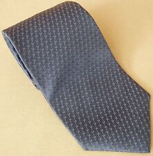 Necktie Kenneth Cole New York Blue Diagonal Stripe Mesh Diamonds 100% Silk Tie