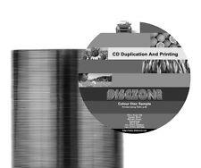 CD Vervielfältigung -100 CD/DVD Schwarz Thermal bedruckt & dupliziert-Bulk verpackt