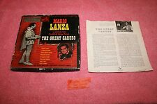 Vintage Red 45 Records Mario Lanza The Great Caruso RCA Victor