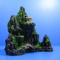 Aquarium Decorations Mountain View Tree - Fish Tank Rock Cave Bridge Ornament