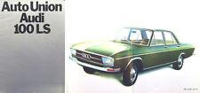 Audi 100 LS 4 door Saloon Original UK Market Sales Brochure Auto Union