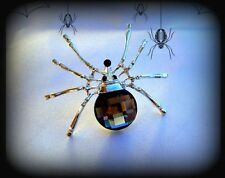 VINTAGE STYLE BLACK CRYSTAL RHINESTONE SILVER SPIDER PIN BROOCH~HALLOWEEN GIFT