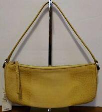 NWT ANN TAYLOR Mini Yellow Leather Crocodile Hobo/Shoulder Bag/Purse See Details