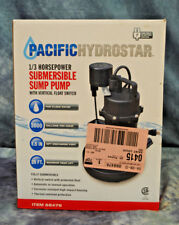 Pacific Hydrostar 68476 – 1/3 HP Submersible Sump Pump w/Vertical Float 3000 GPH