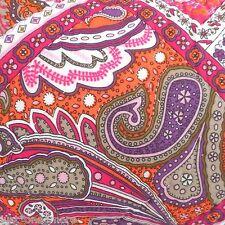 Moroccan King Cotton Quilt Set 4pc Bohemian Pink Purple Orange Paisley Studio D