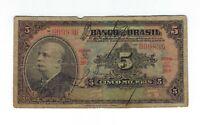 5 Mil Reis Brasilien 1930 R203a / P.113 - Brazil Banknote