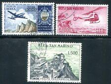SAN MARINO 1954 512, 586, 696 gestempelt HÖCHSTWERTE FLUG 180€(D4581