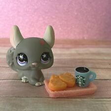 100% AUTHENTIC Littlest Pet Shop LPS #495 Grey Chinchilla w Accessories