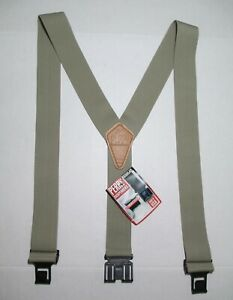 NWT Perry Leather Suspenders Tan Belt Clips Studs Size Regular USA