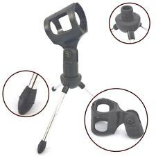 Adjustable 19cm Metal Desk Top Mic Microphone Clamp Clip Holder Stand Tripod