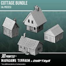 Cottage Bundle Terrain Scenery for Tabletop 28mm Miniatures Wargame 3d