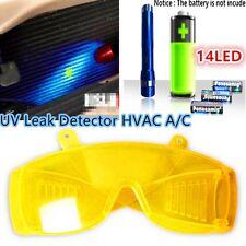 LED Flash Light+Safety Glasses+UV Leak Detector HVAC A/C Fluid Gas Detection Kit
