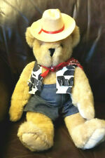 Vintage 18''  Vermont Teddy Bear Cowboy Animal Toy Collectable