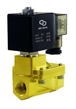 Brass High Pressure 230 Psi Electric Solenoid Process Valve 38 Inch 24v Dc Nc
