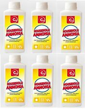 6 X ESSENTIAL POWER HOUSEHOLD AMMONIA BEST STAIN REMOVER CLEANER 500ML 6 PACK