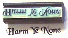 Harm Ye None Wiccan Rubber Stamp by Amazing Arts