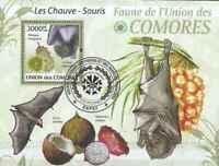 Timbre Animaux Chauve souris Comores BF196 o année 2009 lot 23401 - cote : 21 €