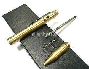 Delicate Bolt Type Handmade Brass Pen Tactical Brass Copper Gel Pen AU
