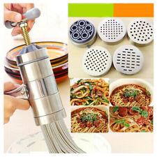 Stainless Steel Manual Noodle Pasta Maker Press Spaghetti Kitchen Machine DIY UK