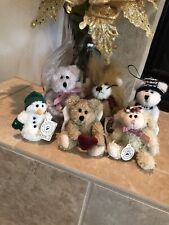 Boyds Bears Lot/6 Plush Xmas Ornaments Roary,Lilith,Ariel,Adrien ne, Orion,Willie