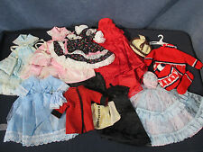 """Doll Clothes for Barbie 11"""" Doll Hand Made Lot of 10 Outfits Coat Dresses Gowns"""