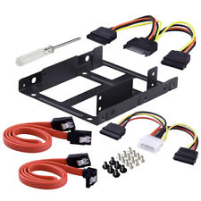 2x 2.5 Inch SSD to 3.5 Inch Internal Hard Disk Drive Mounting Kit Bracket parts