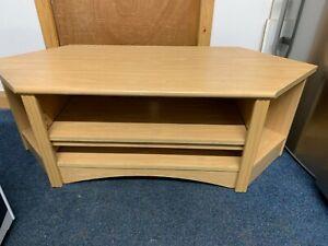 TV table/ stand light wood effect veneer