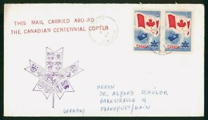 Mayfairstamps Canada 1967 Flag Block Carried Centennial Copter Cover wwp_52673