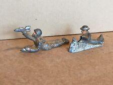 """Vintage BARCLAYS  Metal SET Of (2) Soldiers, """"Gunner & loader"""", Painted 3"""""""