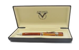 Visconti Ragtime Collection  Amber Crystal Ballpoint Pen  New In Box   561SF13