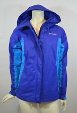 Columbia-Women-Suit-Casual-Blazer-Jacket-Coat-Hooded Packable-Blue-Sizes S