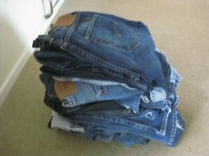 LEVI STRAUSS JEANS: Job Lot of 20 Pairs 501/502/505/510/512/751 Some Vintage
