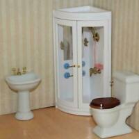 Simulation White Bathroom Shower For 1:12 Dollhouse Miniature Furniture