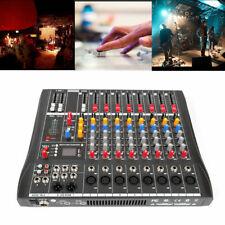 Pro Hi-quality 8 Channel bluetooth Live Studio Audio Mixer Mixing Console USB US