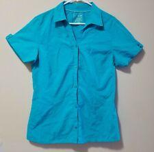 Merrell Turquoise Blue Shirt | Women's XL | Opti Wick Upf 30+