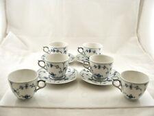 Lot Of Royal Copenhagen Blue Fluted Plain Lace Demitasse Cups & Saucers 1/2162