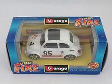 [PH3-9] BBURAGO BURAGO 1/43 STREET FIRE FIAT ABARTH 500 SPORT BIANCA N.95 ELF