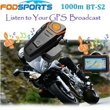 1000m BT-S2 Motorrad Bluetooth Helm Headsets Interfon Gegensprechanlage+FM Radio