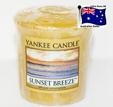 YANKEE CANDLE * Sunset Breeze * Votive Candle SCENTED 15 HOURS BURNING