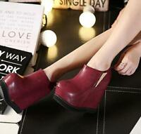 64f939f06231 Pumps Wedge High Heel Platform Round Toe Back Zipper Nightclub Women Shoes  Zhou8