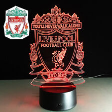 Night Light Acrylic Lamp LED Liverpool Football Soccer Home Toy Deco Gift Hot