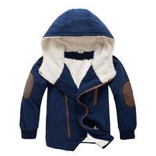 Niño Cálido de Invierno Grueso Abrigo con Capucha Chaqueta Algodón Acolchada