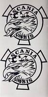 SCANIA VABIS STICKER DECALS X2 LOGO TOPLINE R SERIES SUPER V8 STREAMLINe