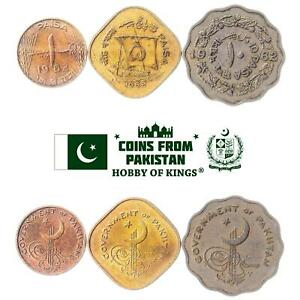 SET OF 3 COINS FROM PAKISTAN: 1, 5, 10 PAISA. 1961-1963