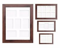Dark Oak Multi Aperture Photo Picture Frame & Mount Choice Of 23 Mounts Design