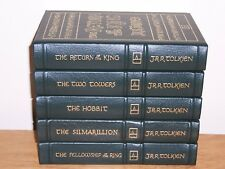Easton Press LORD OF THE RINGS by J R R Tolkien 5 vols FELLOWSHIP TOWERS HOBBIT