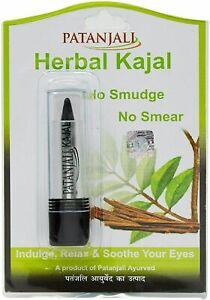 Patanjali Ayurveda Herbal Kajal - Indulge, Relax & Soothe Your Eyes, 3gm, (1)