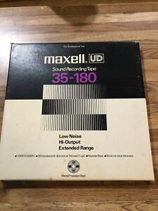 MAXELL UD 35-180. METAL REEL 10.5 INCH BY 1/4 INCH  Classical. Recorded Reel