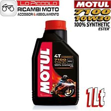 1 LITRO LT OLIO MOTORE MOTO MOTUL 7100 4T 10W30 100% SINTETICO ESTER MA2 RACING